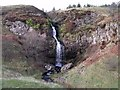 NS7380 : Waterfall on the Kilsyth Hills by Robert Murray