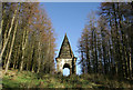 NY3289 : A monument on the Westerhall Estate, Bentpath : Week 48