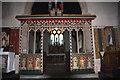 TL9650 : Kettlebaston church chancel-screen by Bob Jones
