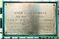 J3474 : Plaque, Queen Elizabeth Bridge, Belfast by Albert Bridge