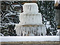 TL1489 : Ice fountain, Folksworth by Michael Trolove