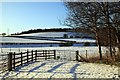 SU8294 : Snow covered fields at West Wycombe by Steve Daniels