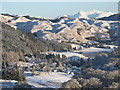 NM8704 : Snow scene towards Torran : Week 51
