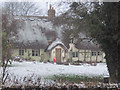 SP8019 : Cottage in the snow by John Firth