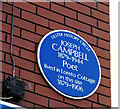 Photo of Joseph Campbell blue plaque