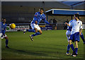 Dist:0.2km<br/>Ahmet nods home from close range as Wingate and Finchley FC defeat Leyton FC 4-0 on the first Saturday in January.  This game marked a turning point in the club's season which had been very much mid-table form beforehand.   They went on to produce a 17 match unbeaten run that saw them reach the play-offs - the highest ever finish in Wingate & Finchley's history.