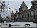J3374 : Fresh snow at the City Hall, Belfast by Dean Molyneaux