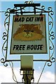 TL3377 : Sign for the Mad Cat Inn by Tiger