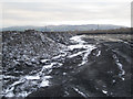 SX8476 : Frozen spoil, Newbridge ball clay quarry by Robin Stott