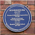 SO9198 : Plaque celebrating H D Hughes, Wolverhampton by Roger  Kidd