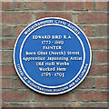 SO9198 : Edward Bird Plaque in Old Hall Street, Wolverhampton by Roger  Kidd
