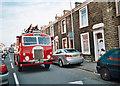 SD6927 : Vintage fire engine - Higher Audley - Blackburn by Tom Howard