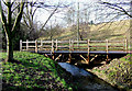 SO8692 : Footbridge across the Wom Brook, Wombourne, Staffordshire by Roger  Kidd