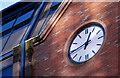 "J3474 : The ""Plaza"" clock, Belfast by Albert Bridge"