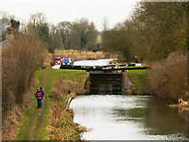 SU2662 : Lock 62 from Bridge 99, Kennet and Avon Canal by Brian Robert Marshall