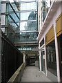 TQ3381 : Reflection of The Gherkin as seen in St Katherine's Passage : Week 7