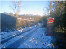 SO2755 : Telephone kiosk at Lower Hergest by Trevor Rickard