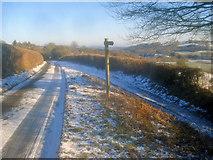 SO2755 : Finger post on Upper Hergest Road by Trevor Rickard