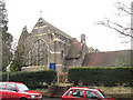 TQ2355 : Church of the Good Shepherd, Tadworth: east end by Stephen Craven