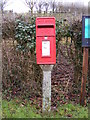 TM3377 : Bridge Farm Halesworth Road Postbox by Adrian Cable