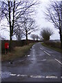 TM3373 : Brick Kiln Lane &amp; Crossways Postbox by Adrian Cable