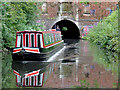 SP0679 : Narrowboat leaving the east portal of Brandwood Tunnel, Birmingham by Roger  Kidd