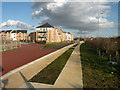 TL4461 : Guided Busway track at Kings Hedges Road (2) by Keith Edkins