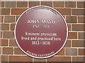 Photo of John Mayo claret plaque