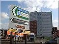 SP0685 : Turn left for Birmingham City centre by Steve  Fareham