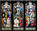 TF6808 : The church of All Saints in Shouldham - east window (detail) : Week 9