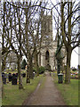 SD8005 : All Saints church and graveyard by David Dixon