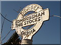 SU0611 : Edmondsham: The Stocks finger-post detail by Chris Downer
