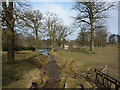 SJ9682 : The Old Mill and pond at Lyme Park by Peter Barr