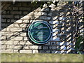 Photo of Edwin Duncan Sandys green plaque