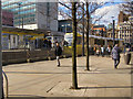 SJ8498 : Piccadilly Gardens Tram Station by David Dixon