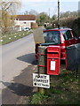 ST8313 : Child Okeford: postbox № DT11 127, Shaftesbury Road by Chris Downer