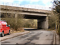 SD8114 : Motorway Bridge, Bentley Lane by David Dixon
