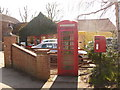 SU6385 : Ipsden: postbox № OX10 500 and phone by Chris Downer