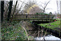TQ3065 : Beddington:  Footbridge over the River Wandle by Dr Neil Clifton