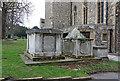 TQ4069 : St Peter & St Paul, Church Road, Bromley - Graves by John Salmon