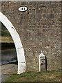 SD8843 : Milestone at Mill Hill Bridge by Kate Jewell