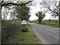 SJ6074 : Acton Bridge road and boundary site by Dr Duncan Pepper