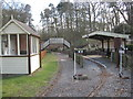 SJ6170 : Miniature railway station and bridge by Dr Duncan Pepper