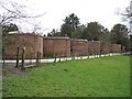 SP2270 : Lobed wall, Wroxall Abbey by Robin Stott