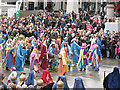 TQ3080 : Trafalgar Square passion play: the Triumphal Entry by Stephen Craven