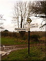 ST3604 : Thorncombe: signpost at Forde Grange by Chris Downer