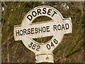 ST3604 : Thorncombe: Horseshoe Road signpost detail by Chris Downer