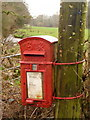 ST3803 : Thorncombe: postbox № TA20 474, Synderford by Chris Downer