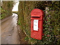 SY4699 : Netherbury: postbox № DT6 114, Whitecross by Chris Downer