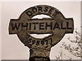 SY5997 : Tollerford: detail of Whitehall finger-post by Chris Downer